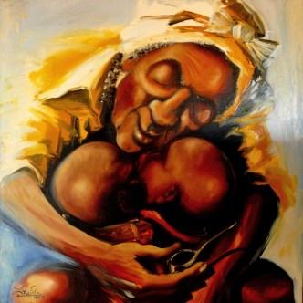 Vôvô África 100 x 100cm Oil on canvas